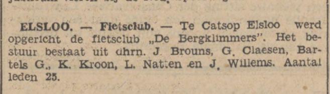 Fietsclub de bergklimmers 26-08-1931 en voetbal club