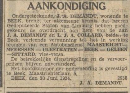 aankondiging 30-06 - 1934 demand samenwerking