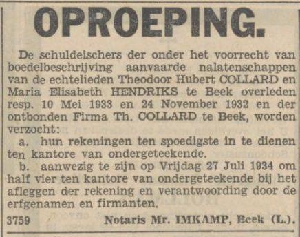 schuldeisers 1934