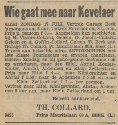 wie gaat er mee naar kevelair 1932