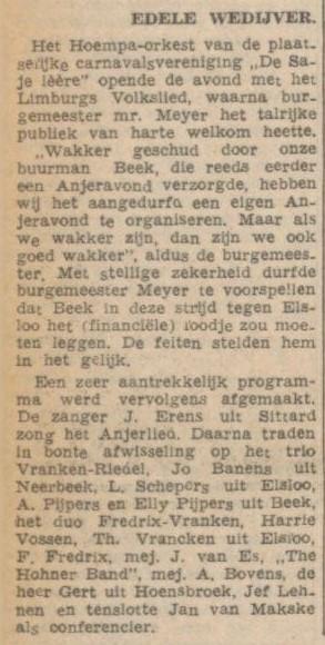 19-11-1952 Hohner Band