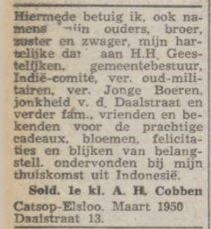 gus cobben 1950
