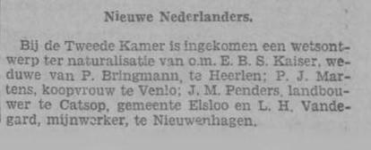 28-04-1930 neuterelisatie