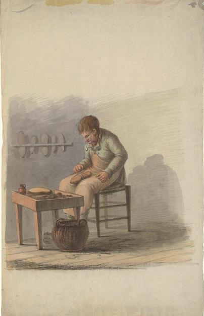 schoenmaker aan het werk 1700 1800 rijksmuseum