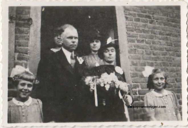 trouwfoto Sjeng Claessen en Ida Pepels 1944 1