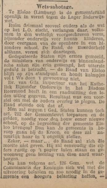 wet sabotage 1923